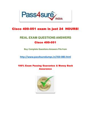 Pass4sure 350-080 Study Guide
