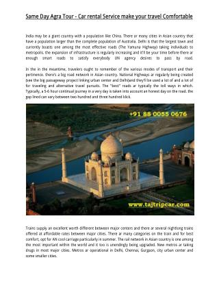 Tajtripcar.com | Delhi to Agra | Chandigarh| Shimla | Manali Taxi Service