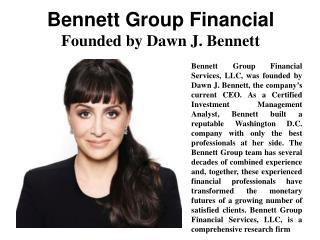 Bennett Group Financial - Founded by Dawn J. Bennett