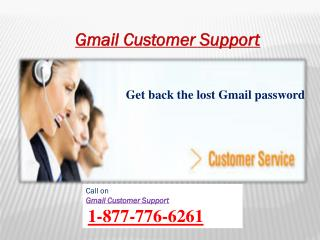 Contact to Gmail Customer Support Number 1-877-776-6261 for hacked Gmail account
