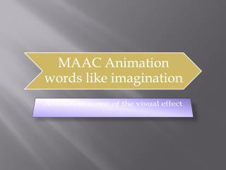 MAAC  animation institute in Delhi