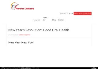 New Year's Resolution: Good Oral Health