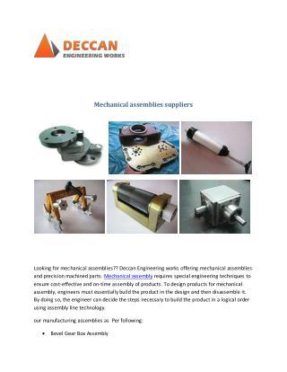 Mechanical assemblies suppliers