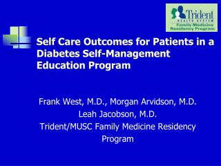 Self Care Outcomes for Patients in a Diabetes Self-Management Education Program