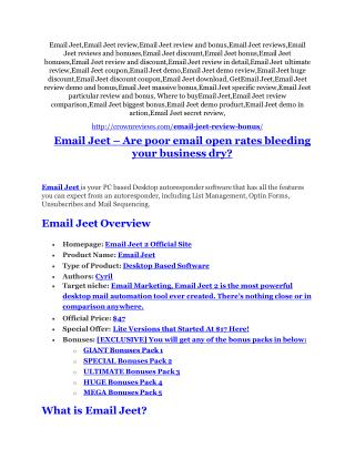 Email Jeet Review & (Secret) $22,300 bonus