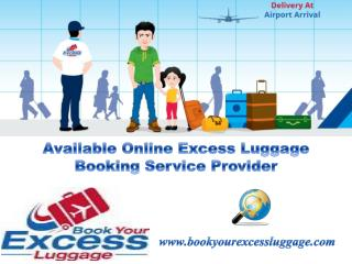 Available Online Excess Luggage Booking Service Provider