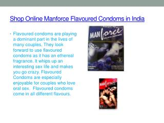 Buy online Manforce Flavoured Condoms