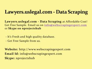 Lawyers.uslegal.com - Data Scraping