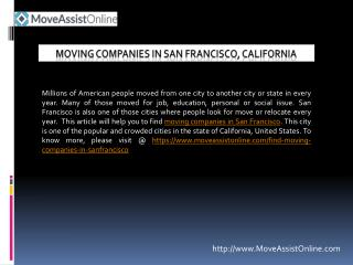 Best Moving Companies in San Francisco
