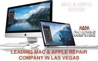 Apple Mac Repair with Neon Computer