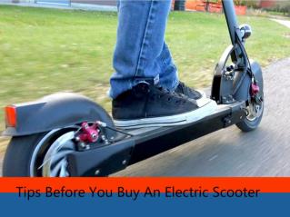Tips Before You Buy An Electric Scooter