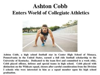 Ashton Cobb Enters World of Collegiate Athletics