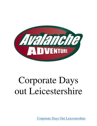 Corporate Days Out Leicestershire