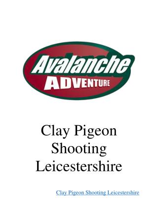 Clay Pigeon Shooting Leicestershire