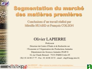 Segmentation du march  des mati res premi res
