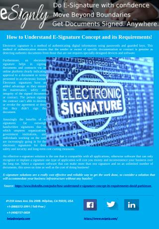 How to Understand E-Signature Concept and its Requirements!
