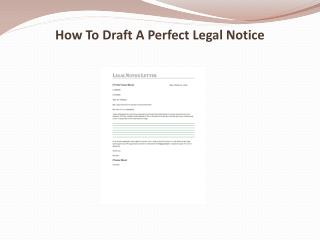 How To Draft A Perfect Legal Notice