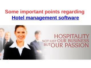 some important points regarding hotel management software