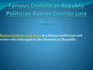 Ramón Ernesto Lora Arias
