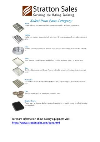 Bakery Equipment Suppliers | Baking Pans