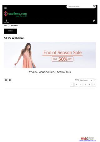 New Arrivals Fashion Clothing sale - Flat 50% off on oxolloxo