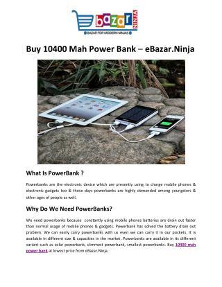 Buy 10400 mah power bank Online
