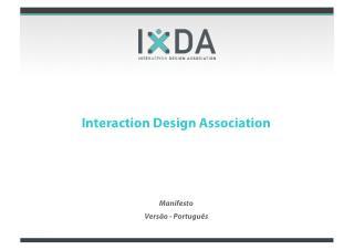 IxDA manifesto2011 Recife_portugues