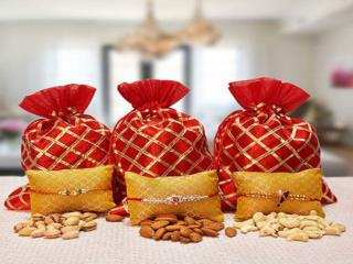 Send Rakhi with Dry fruits to India for your loving Brother at Rakhi.primogiftsindia.com!