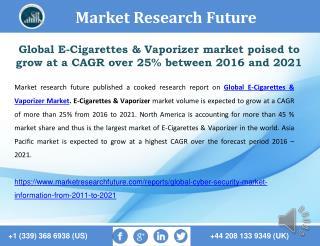 Global E-Cigarettes & Vaporizer Market 2016 Analysis and Forecast to 2021