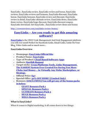 EasyLinks review & EasyLinks (Free) $26,700 bonuses