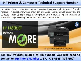 HP Technical Support Printer and Computer Help Number 1-800-723-4210