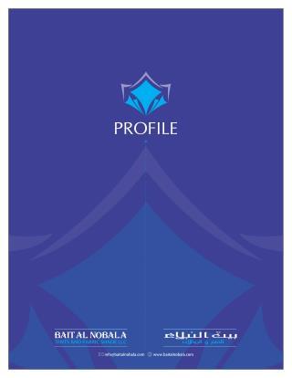 Company Profile - Bait Al Nobala Tents