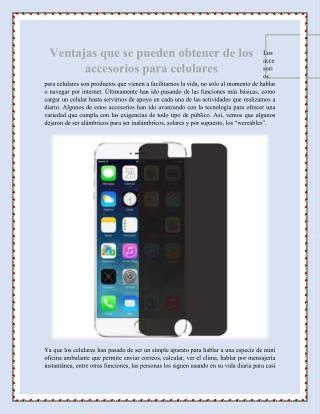 Ventajas que se pueden obtener de los accesorios para celulares