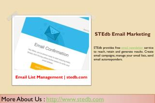 Email List Management - Email Marketing