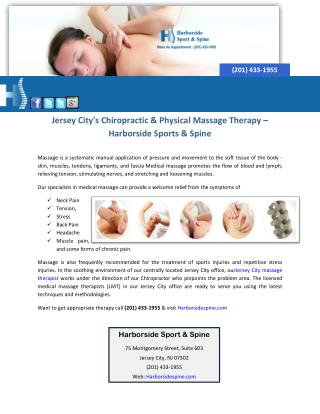 Jersey City's Chiropractic & Physical Massage Therapy – Harborside Sports & Spine