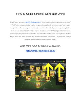 FIFA 17 Coins Generator Ultimate edition