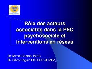 R le des acteurs associatifs dans la PEC psychosociale et interventions en r seau