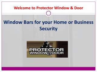 Window Bars for your Home or Business Security in Detroit