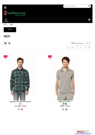 Shop Men Printed Shirt Online and Get Up to 70% off