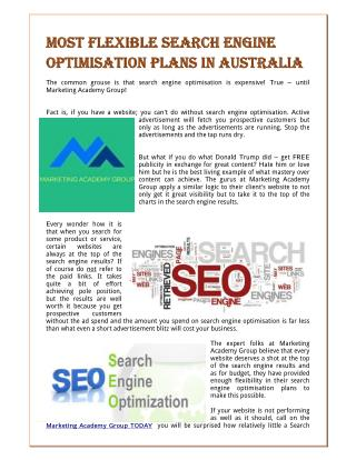 Most Flexible Search Engine Optimisation Plans