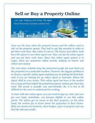 Sell or Buy a Property Online