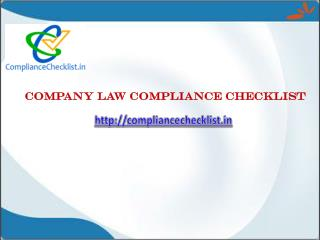 Company law compliance checklist