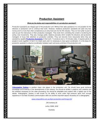 Production Assistant