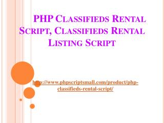 PHP Classifieds Rental Listing script