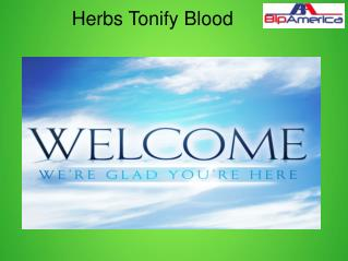 Herbs Tonify Blood