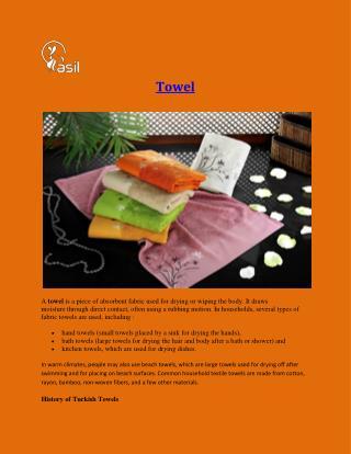 Towels In Turkey