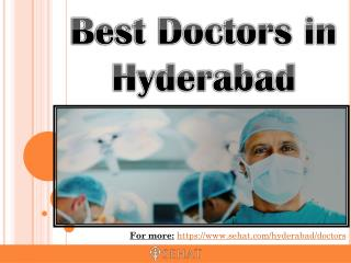 Best Doctors in Hyderabad | Sehat.com