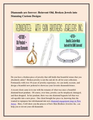 Diamond Engagement Rings New Jersey
