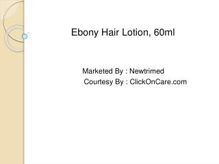 ebony lotion