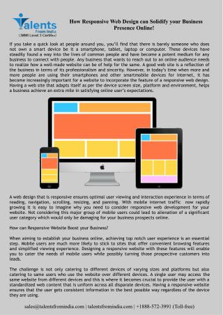 How Responsive Web Design can Solidify your Business Presence Online